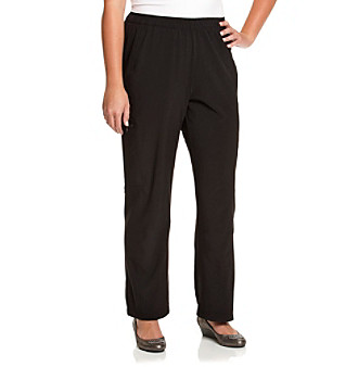 Laura Ashley® Plus Size Jet Black Weekend Long Pant