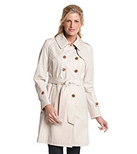 DKNY® Belted Double-Breasted Trench Coat