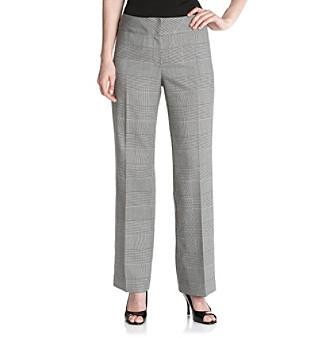 Kasper® Black and White Glen Plaid Pants