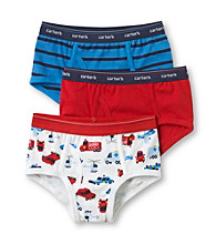 Carter's® Boys' 2-5 Blue/Red/White 3-pk. Airplane Striped Briefs