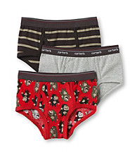 Carter's® Boys' 2-5 Red/Grey/Black 3-pk. Monkey Briefs