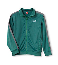 PUMA® Boys' 8-20 Green/Grey Tricot Jacket