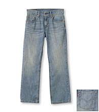 Levi's® Boys' 8-20 505™ Straight Fit Anchor Jeans - New Blue