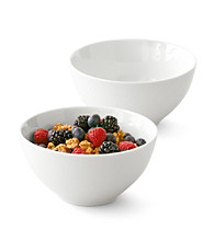 LivingQuarters Whiteware Round Set of 2 Cereal Bowls