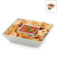 LivingQuarters Whiteware 2-pc. Chip n' Dip Set