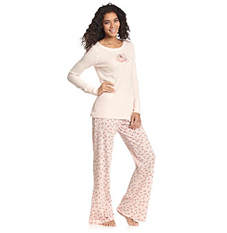 HUE® Thermal Printed Pajama Set - Martini Blossom