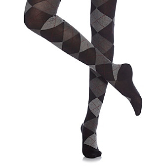HUE® Argyle Sweater Tights