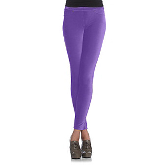 HUE® Corduroy Leggings - Purple Reign
