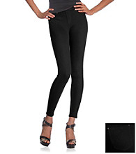 HUE® Denim Jeans Color Leggings - Black