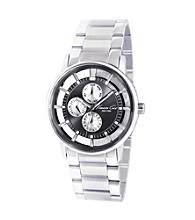 Kenneth Cole New York® Mens Silver Round Transparent Dial Multifunction