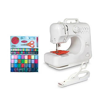 Michley Lil' Sew & Sew 3-pc. Desktop Sewing Machine Value Bundle