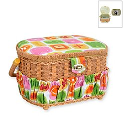 Michley Lil' Sew & Sew Sewing Basket and 42-pc. Sewing Kit