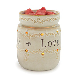 Candle Warmers Etc. Live, Love, Laugh Ceramic Illumination Warmer