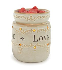 Candle Warmers Etc. Live, Love, Laugh Ceramic Illumination Warmer