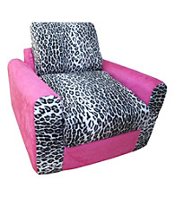 Fun Furnishings Pink Leopard Chair Sleeper
