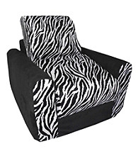 Fun Furnishings Black Zebra Chair Sleeper