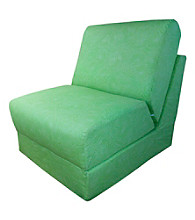 Fun Furnishings Lime Green Let it Grown Organic Print Teen Chair Sleeper