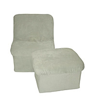 Fun Furnishings Sage Green Micro Suede Cloud Chair & Ottoman