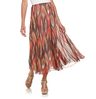 Ruby Rd.® Pink Multi Blur Ikat Skirt
