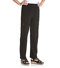 Laura Ashley® Petites' Jet Black Weekend Long Pants