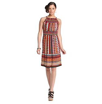 Maggy London® Grape and Ginger Brazilian-Print Halter Dress