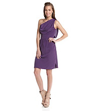 Vince Camuto® Pleated One-Shoulder Dress