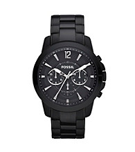 Fossil® Men's Grant Black Stainless Steel Watch