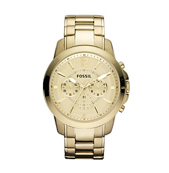 Fossil® Men's Grant Goldtone Stainless Steel Watch