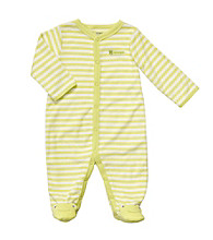 Carter's® Baby Lime/White Striped Terry Frog Sleep and Play
