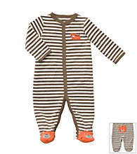 Carter's® Baby Boys' Brown/White Striped Terry Tiger Sleep and Play