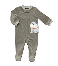 Carter's® Baby Boys' Charcoal Terry Dog Sleep and Play