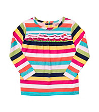 Carter's® Girl's 2T-6X Rainbow Striped Long Sleeve Top