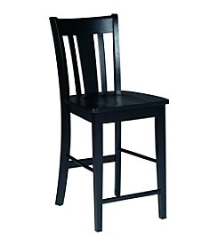 International Concepts Black San Remo Counterheight Stool
