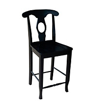 International Concepts Black Empire Counterheight Stool