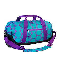 Wildkin Big Aqua Dot Duffel Bag