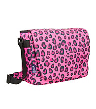 Wildkin Pink Leopard Laptop Messenger Bag