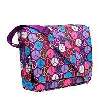 Wildkin Purple Peace Sign Kickstart Messenger Bag