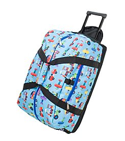 Wildkin Olive Kids Trains, Planes and Trucks Good Times Rolling Duffel Bag