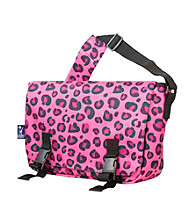 Wildkin Pink Leopard Jumpstart Messenger Bag