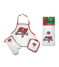 McArthur Sports Tampa Bay Buccaneers Tailgate Combo Set and Kitchen Towel Set