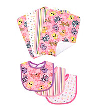 Trend Lab Lola Fox Bib and Burp Cloth Set