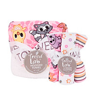 Trend Lab Baby Girls' Lola Fox Hooded Towel and Wash Cloth Set