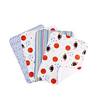 Trend Lab Little MVP 4 Pack Burp Cloth Set