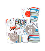 Trend Lab Little MVP Bib and Burp Cloth Set