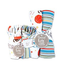 Trend Lab Little MVP Bib and Burp Cloth Set