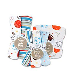Trend Lab Little MVP Bath and Burp Cloth Set