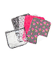 Trend Lab Zahara Zipper Pouch and 4 Burp Cloth Set