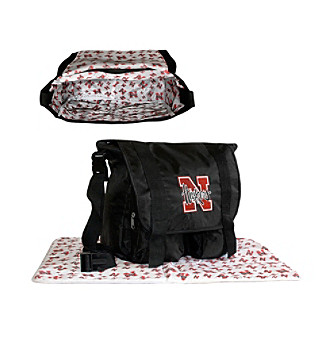 TNT Media Group Nebraska Cornhuskers Diaper Bag