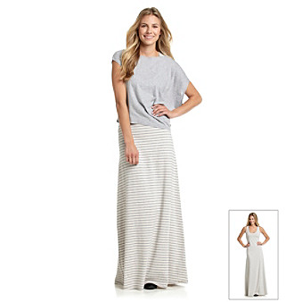 Calvin Klein Performance Striped Maxi Dress with Crop Top