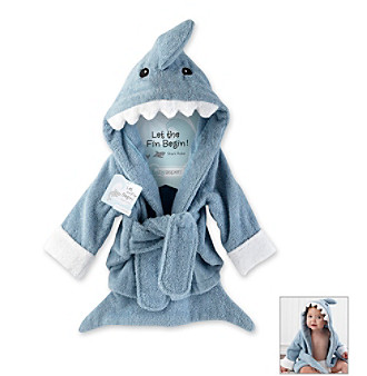 """Baby Aspen """"Let the Finn Begin"""" Terry Shark Robe"""